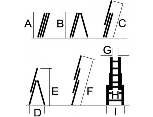 Драбина універсальна Кентавр 3×10 (2,85 м)