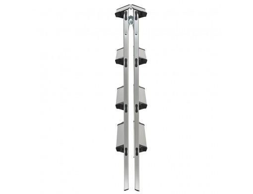 Драбина алюмінієва двостороння Кентавр 4Д